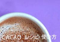 CACAOレシピ・使い方